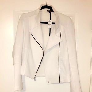 Edgy but Sleek White Blazer Jacket